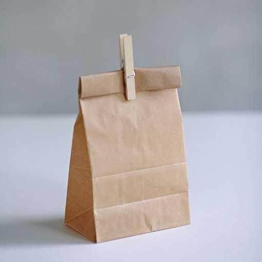 Lunch bag en kraft - 25 x 13 cm