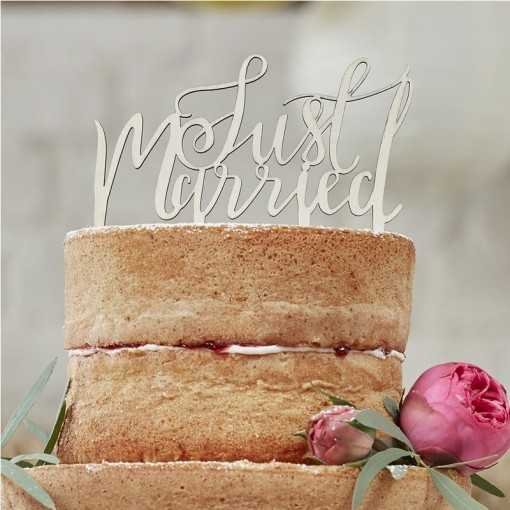 Cake Topper bois - JUST MARRIED