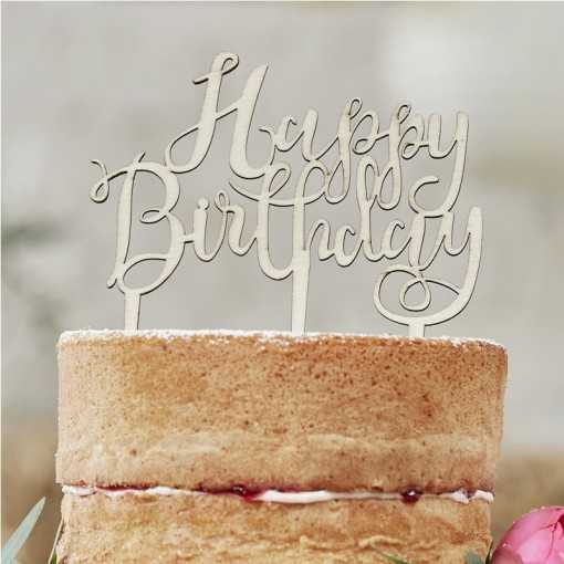 Cake Topper bois - Happy Birthday