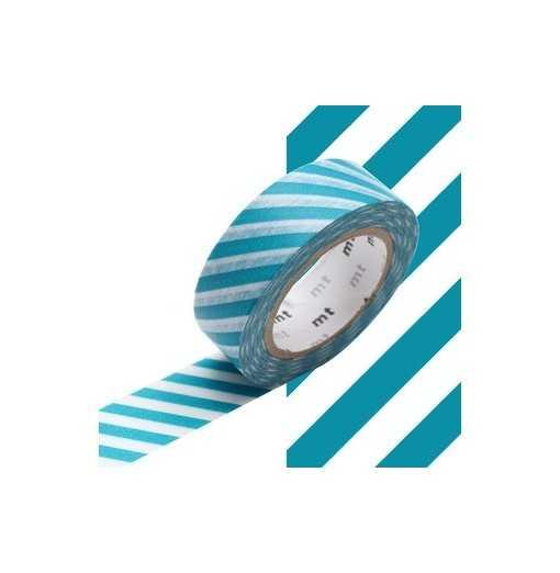 Masking Tape MT Stripe Bleu Paon