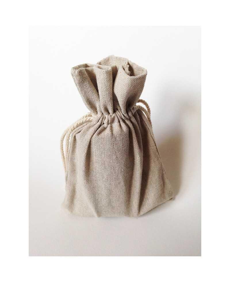 sac en coton naturel taille moyenne 12 x 17cm mes petits packagings. Black Bedroom Furniture Sets. Home Design Ideas