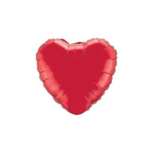Petit ballon coeur aluminium - Rose 23cm