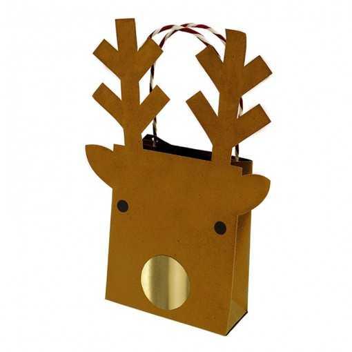 Petit sac cadeau renne