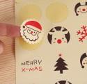 Planche de stickers kraft Noël