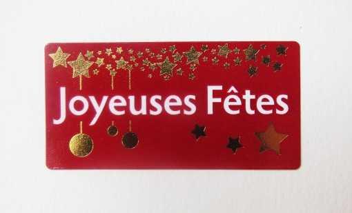 "Sticker ""Joyeuses fêtes"""