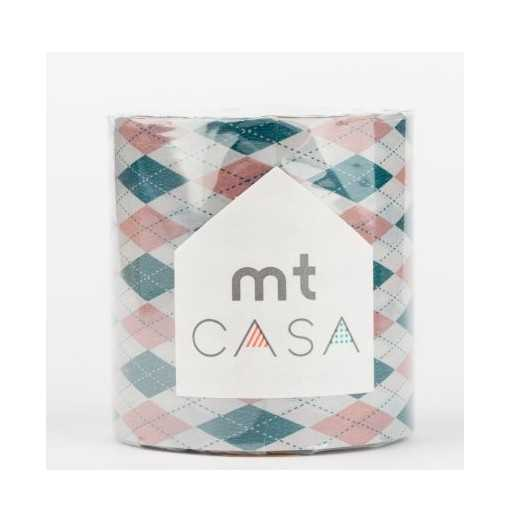 Masking Tape Casa Argyle Pink 5cm