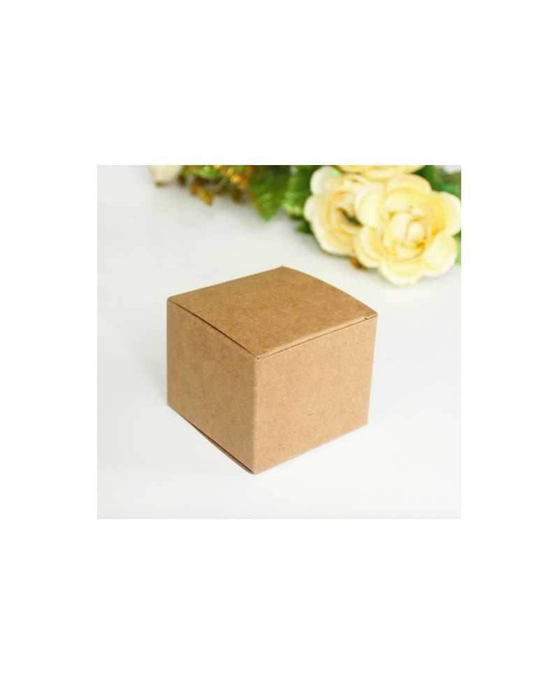 Petite boite en Kraft carré 6 x 6 x 5cm
