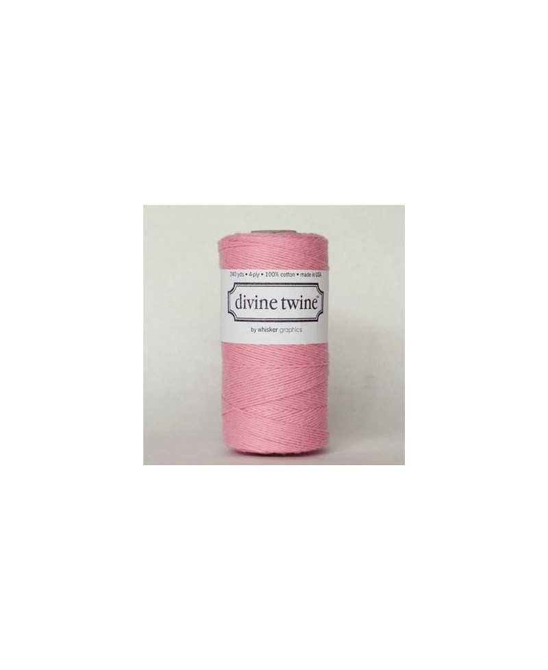 Baker twine Solid Light Pink - au mètre