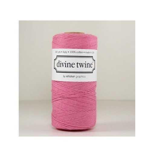 Baker twine Solid Pink - au mètre