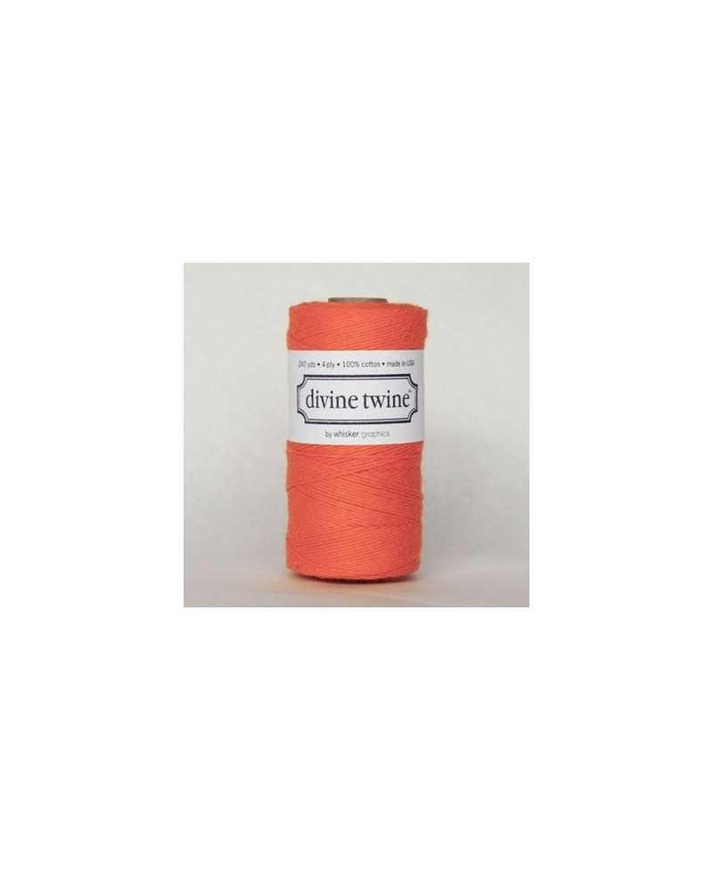 Baker twine Solid Orange - au mètre