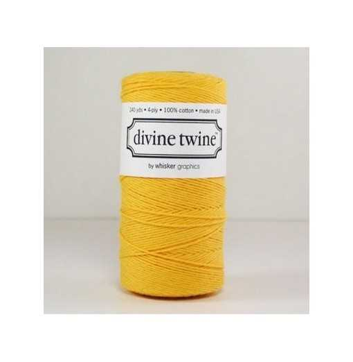 Baker twine Solid Yellow - au mètre