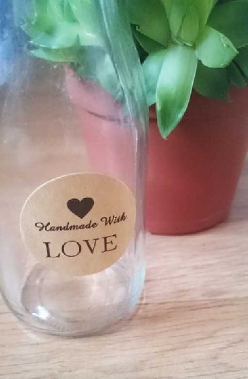 "Sticker ""Handmade With Love"""