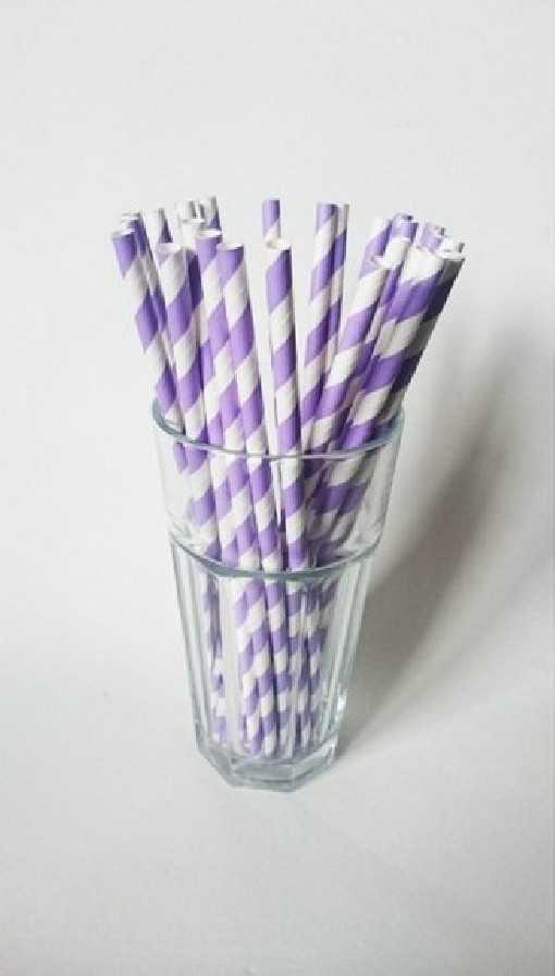 Paille en papier - Violette