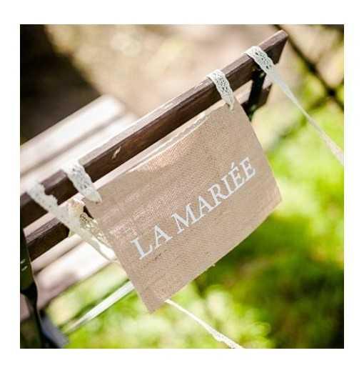 Dos de chaise jute Le Marié...