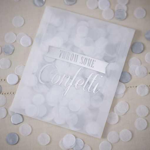 Sachet de confettis argenté