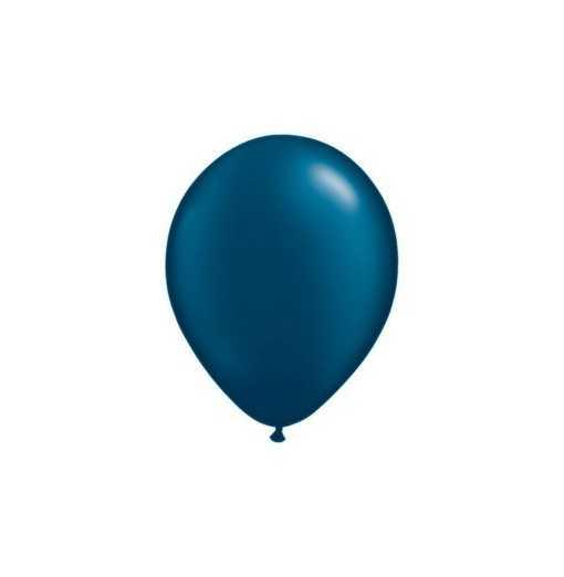 Ballon Nacré Bleu Nuit 28cm