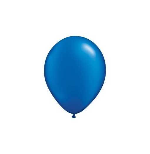 Ballon Nacré Bleu Saphire 28cm