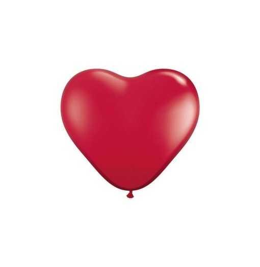 Petit ballon coeur Rouge - 15cm