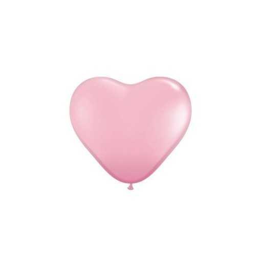 Petit ballon coeur Nacré Rose - 15cm