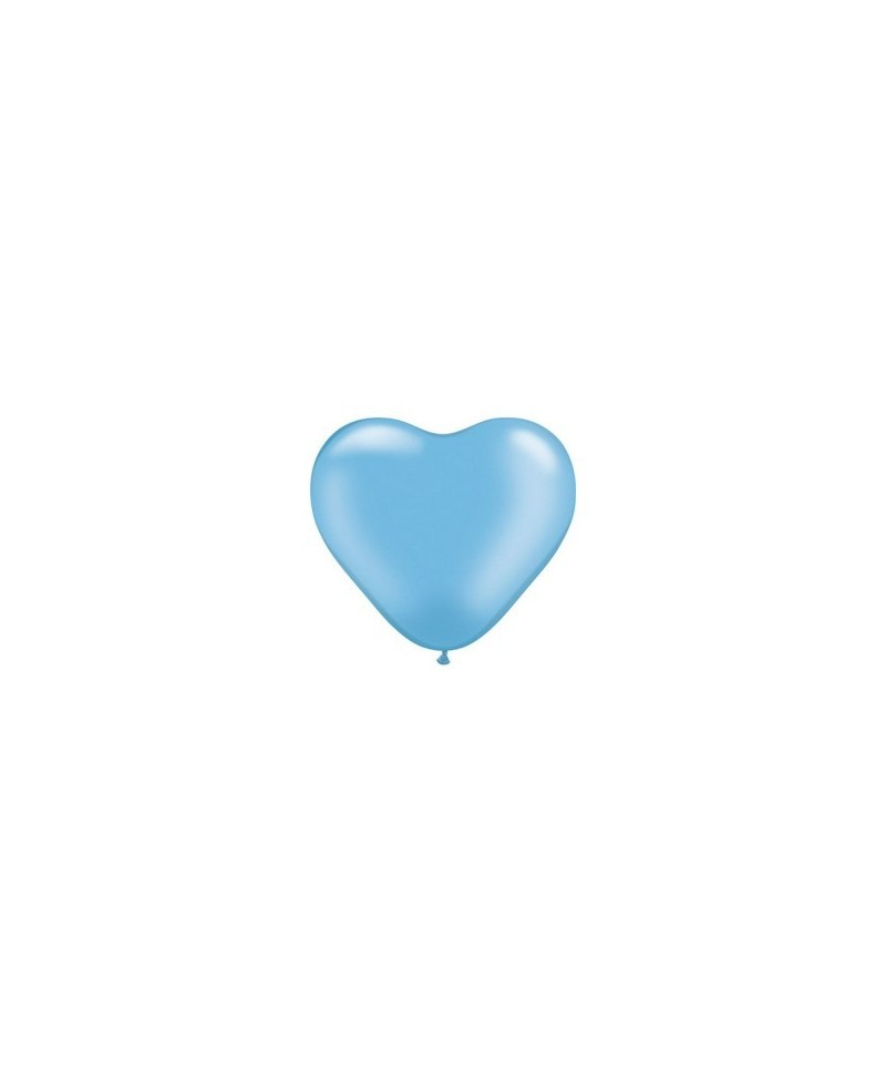 Petit ballon coeur Nacré Bleu - 15cm