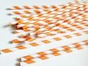 Paille en papier Orange