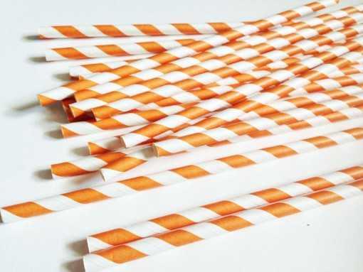 Paille en papier - Orange