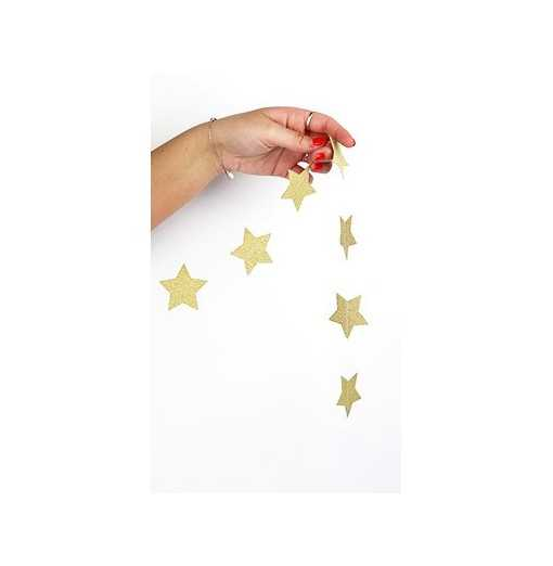 Guirlande Étoiles Or