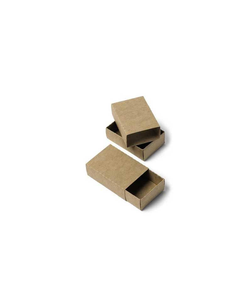 Petite boite taille boite d'allumettes en kraft