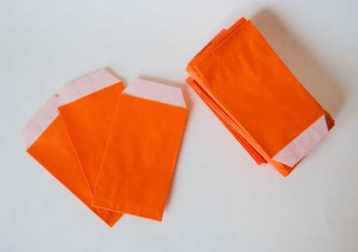 Sachet kraft orange - petit (7 x 11cm)