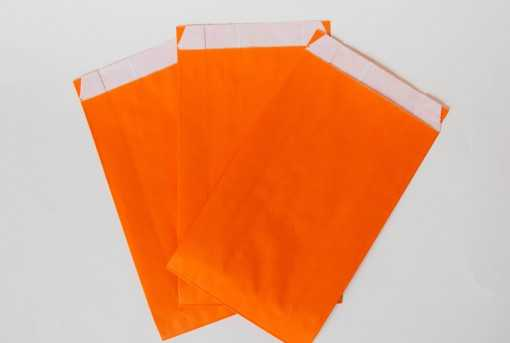 Sachet kraft orange - moyen (12 x 20cm)