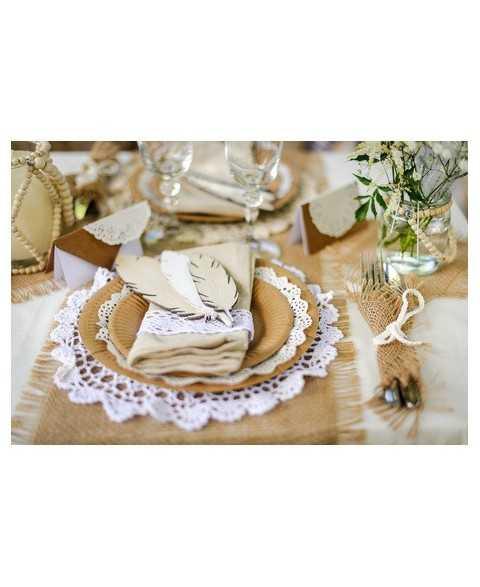 Napperon en crochet 30cm - Blanc
