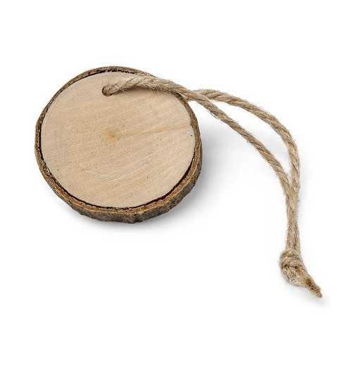 Rondin de bois avec ficelle