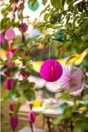 Boule alvéolée Rose Poudrée - 30cm