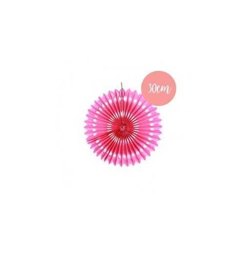 Rosace en papier rose fushia - 30cm