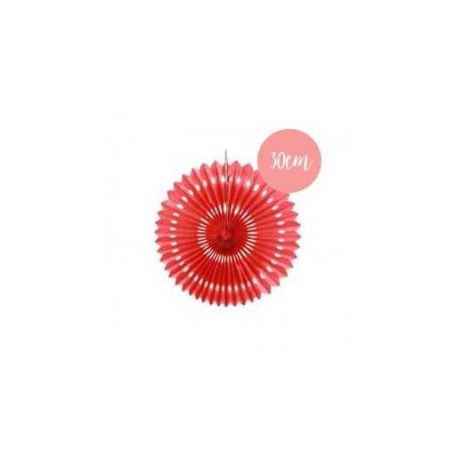 Rosace en papier rouge - 30cm
