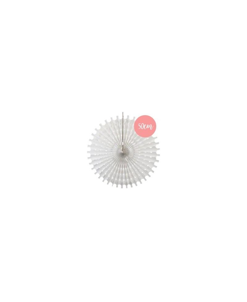 Rosace en papier blanc - 50cm