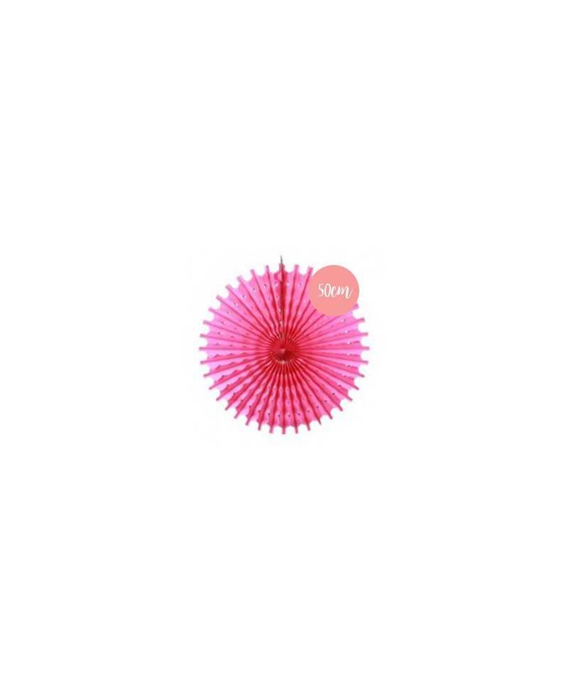 Rosace en papier rose fushia - 50cm
