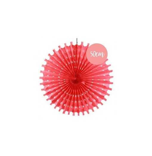 Rosace en papier rouge - 50cm
