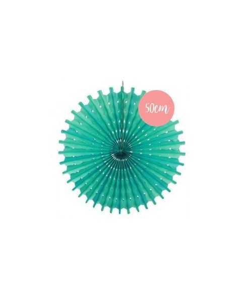 Rosace en papier vert d'eau - 50cm