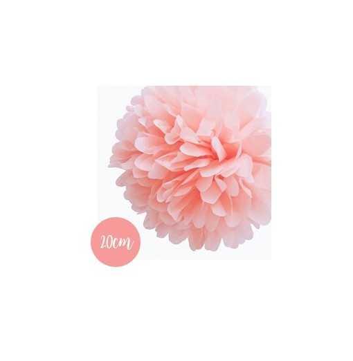 Pompon Papier Rose Clair -...