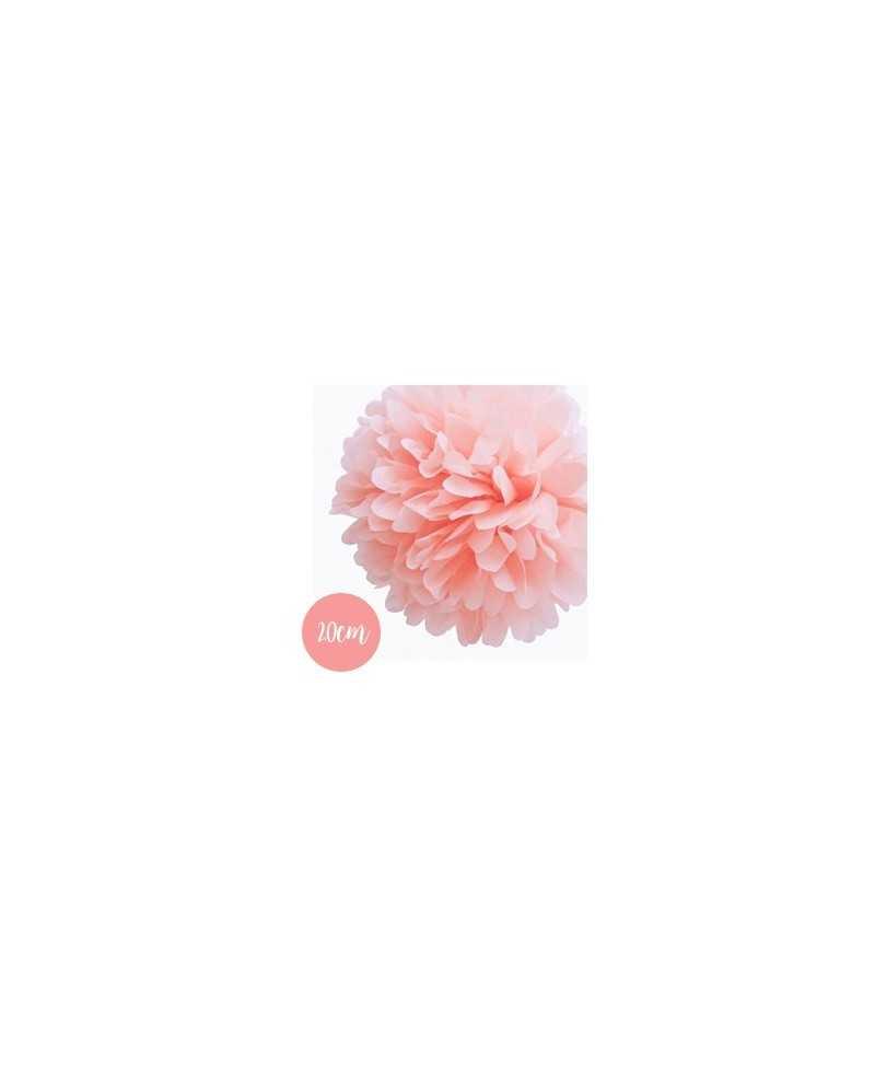 Pompon Papier Rose Clair - 20cm