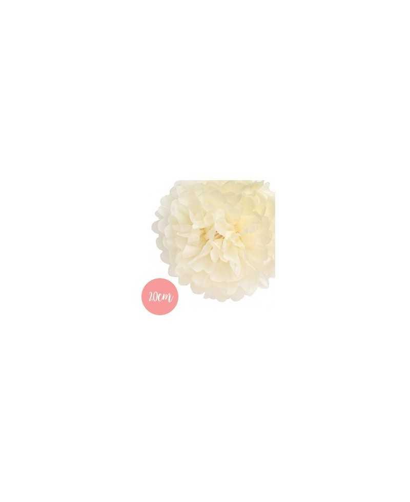 Pompon Papier Crème - 20cm