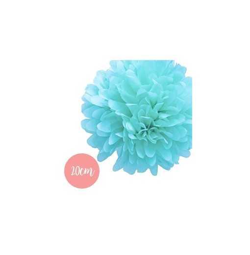 Pompon Papier Bleu Clair - 20cm