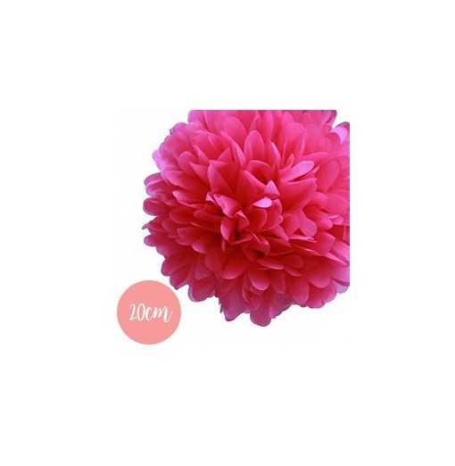 Pompon Papier Rose Fushia - 20cm