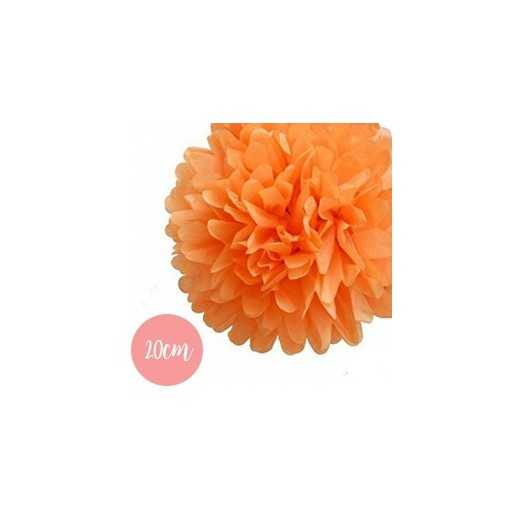 Pompon Papier Orange - 20cm