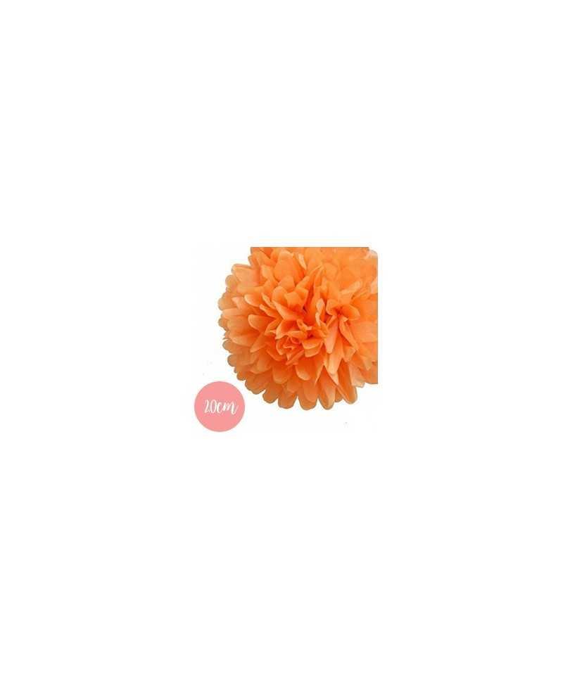 Pompon Papier Orange - 20cm
