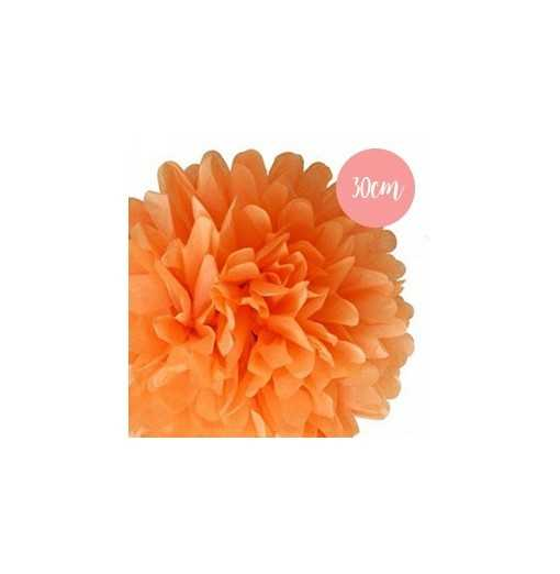 Pompon Papier Orange - 30cm