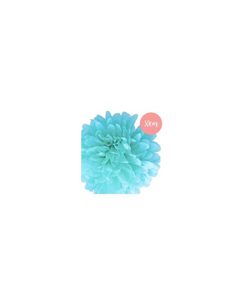 Pompon Papier Bleu Clair - 30cm