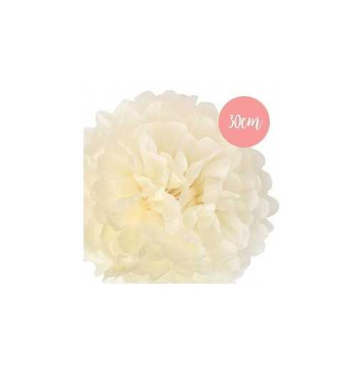 Pompon Papier Crème - 30cm