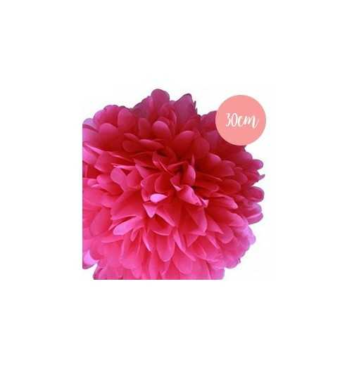 Pompon Papier Rose Fushia - 30cm
